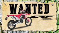 Wanted CRF450 L